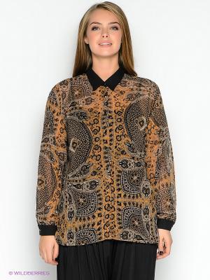 Блузка TOPSANDTOPS. Цвет: коричневый
