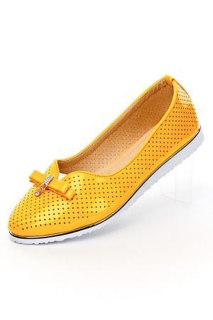 Балетки Brocoli. Цвет: желтый