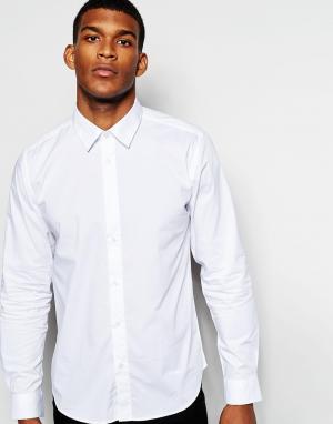 Wincer & Plant Облегающая строгая рубашка из эластичного хлопка. Цвет: белый