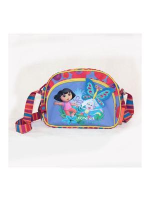 Сумочка детская Даша-путешественница Gulliver. Цвет: красный, оранжевый, сиреневый