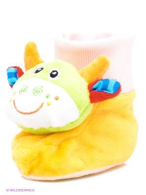 Мягкая погремушка Мини-Бамбини S-S. Цвет: желтый, зеленый, розовый