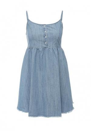 Платье джинсовое Befree. Цвет: голубой