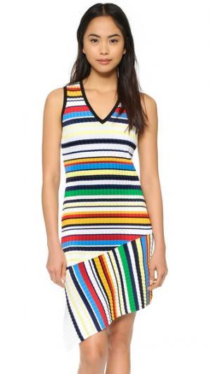 Платье в полоску Pop Milly. Цвет: разноцветный
