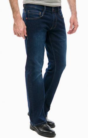 Синие расклешенные джинсы Mustang. Цвет: синий