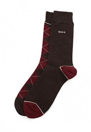 Комплект носков 2 пары DIM. Цвет: коричневый
