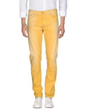 Джинсовые брюки PT05. Цвет: желтый
