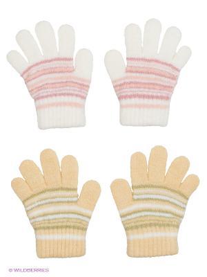Перчатки, 2 пары FOMAS. Цвет: белый, бежевый, розовый