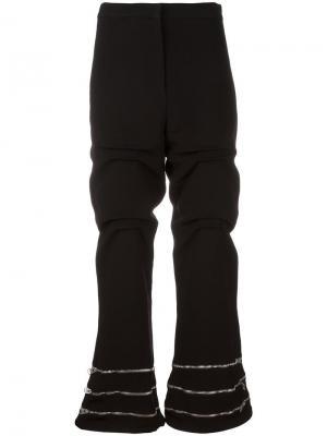 Присборенные брюки с молниями JW Anderson TR09WA1611697251