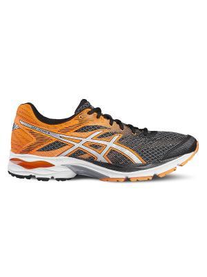 Кроссовки GEL-FLUX 4 ASICS. Цвет: оранжевый, серебристый, черный