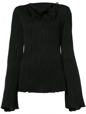 Плиссированная блузка Prabal Gurung. Цвет: чёрный