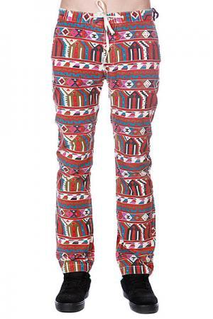 Штаны прямые  Adhan Pant Red Altamont. Цвет: бежевый,красный,черный