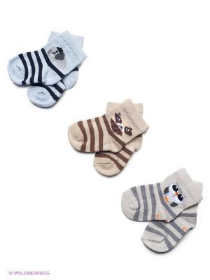 Носки PERA MAYA. Цвет: бежевый, голубой, серый