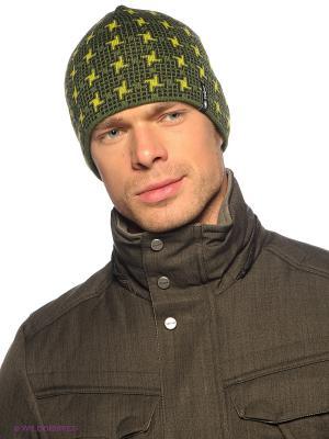 Шапка Viking caps&gloves. Цвет: зеленый, желтый, черный