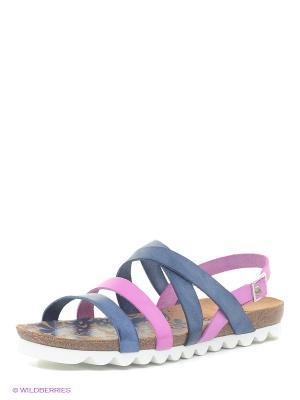 Сандалии El Tempo. Цвет: розовый, синий