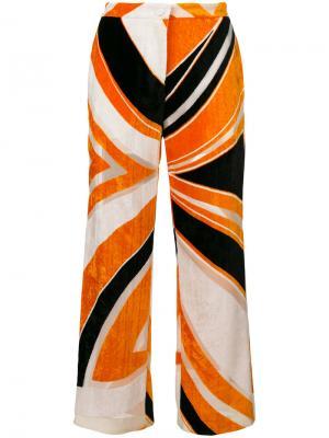 Укороченные брюки Emilio Pucci. Цвет: жёлтый и оранжевый