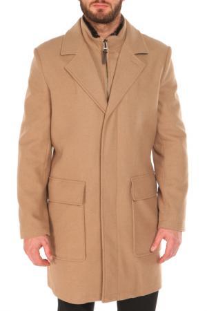Пальто COLE HAAN. Цвет: бежевый