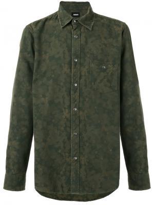 Камуфляжная рубашка Hudson. Цвет: зелёный