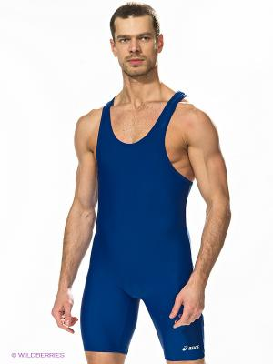 Борцовское трико SOLID MODIFIED SINGLET ASICS. Цвет: синий