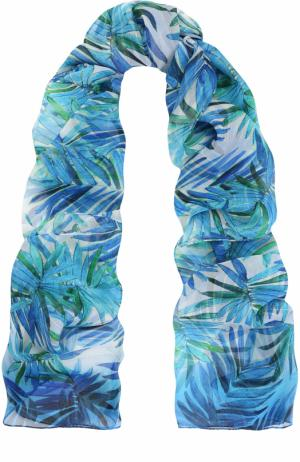 Шелковый шарф с принтом St. John. Цвет: голубой