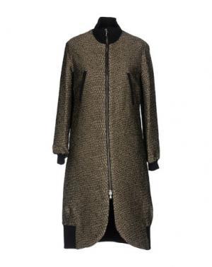 Пальто MANILA GRACE. Цвет: зеленый-милитари