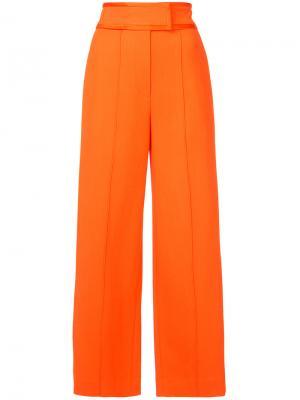 Широкие брюки с лампасами Dvf Diane Von Furstenberg. Цвет: жёлтый и оранжевый