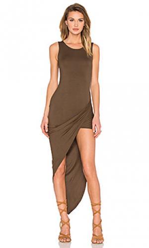 Платье dawn De Lacy. Цвет: оливковый
