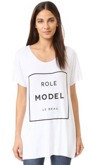 Футболка Role Model Le Beau. Цвет: белый