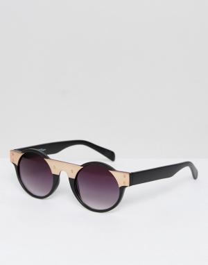 Jeepers Peepers Солнцезащитные очки-авиаторы с зелеными стеклами Jeeper. Цвет: золотой