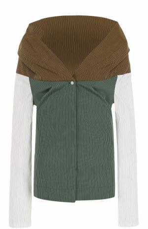 Блуза в полоску с открытыми плечами Isa Arfen. Цвет: разноцветный