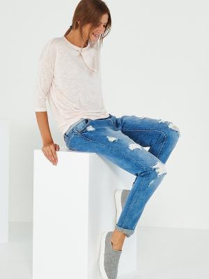 Блузка Reserved. Цвет: персиковый, белый