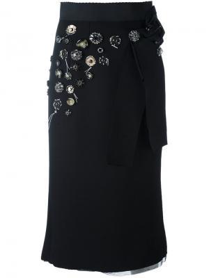 Декорированная эластичная куртка Dolce & Gabbana. Цвет: чёрный