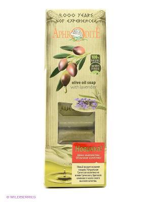 Натуральное оливковое мыло набор 220 гр Aphrodite. Цвет: оливковый