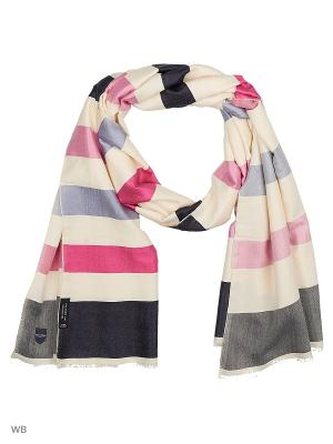 Шарф Eden Park. Цвет: молочный, розовый, темно-синий, голубой, малиновый