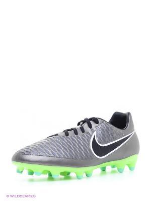 Бутсы MAGISTA ONDA FG Nike. Цвет: серый, серый меланж, серебристый