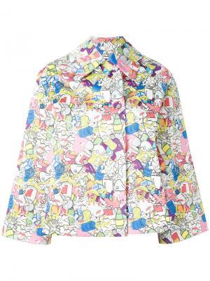Куртка с принтом и рукавами три четверти Ultràchic. Цвет: многоцветный