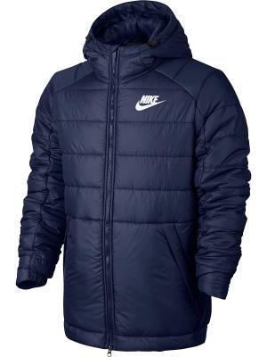 Куртка M NSW SYN FILL JKT HD Nike. Цвет: синий