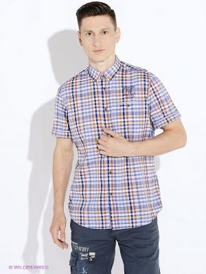Рубашка LERROS. Цвет: оранжевый