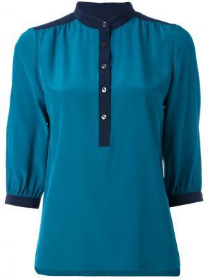 Рубашка с воротником-стойкой Vanessa Seward. Цвет: синий