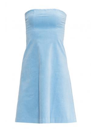 Велюровое платье 160591 Cyrille Gassiline. Цвет: синий