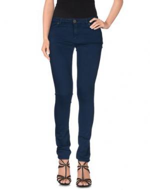 Джинсовые брюки SUPERFINE. Цвет: цвет морской волны