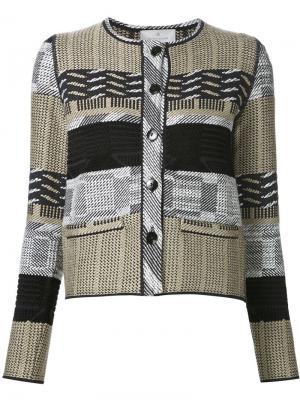 Фактурный пиджак Maison Ullens. Цвет: чёрный