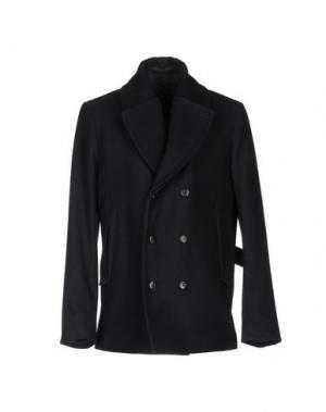 Пальто FAÇONNABLE. Цвет: темно-синий