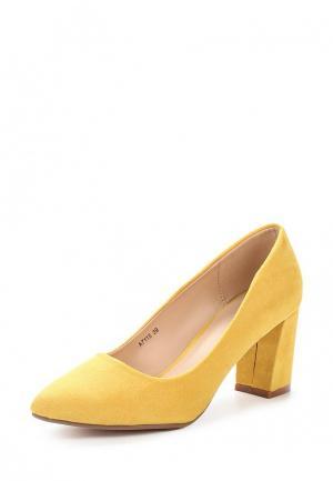 Туфли Benini. Цвет: желтый