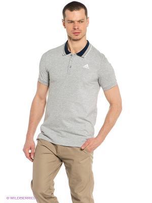 Футболка-поло ESS Polo Adidas. Цвет: серый