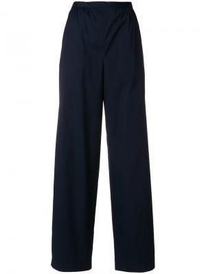 Широкие брюки Prada. Цвет: синий