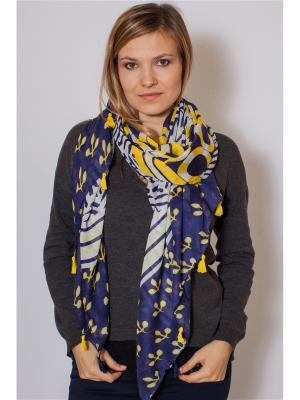 Палантин Sophie Ramage. Цвет: синий, белый, желтый