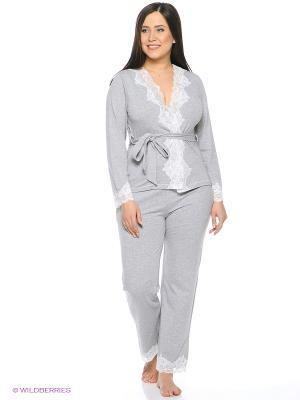 Пижама Del Fiore. Цвет: серый меланж