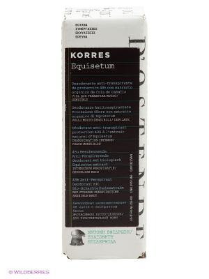 Дезодорант с экстрактом хвоща интенсивная защита для чувствительной кожи 48 часов 30 мл Korres. Цвет: прозрачный