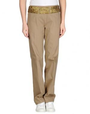 Повседневные брюки METRADAMO. Цвет: светло-коричневый