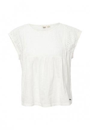 Блуза Roxy. Цвет: белый